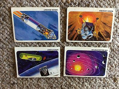 Weet-bix Secrets of Space Collector Cards from 1968 4 cards (of 20)