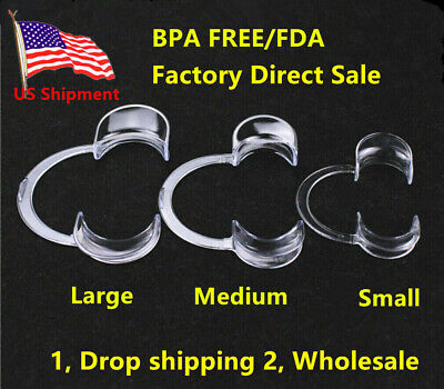 20pc S/M/L Mouth Opener Cheek lip Dental Retractor Recyclable Adult Kid Game