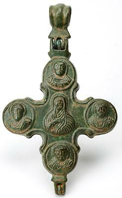Byzantine Bronze Reliquary Cross Pendant Lot 563