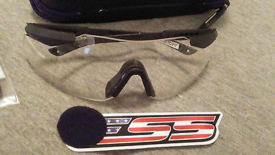 U S ARMY & USMC GLASSES ESS ICE Eyeshield Lens Clear  with Case NEW / UNUSED