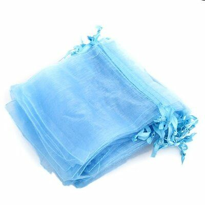 H1 60 Organza Drawstring Jewelry Gift Bag Pouch Light Blue HOT