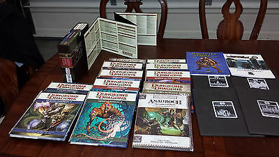 Big lot of Dungeons and Dragons 4th edition. D&D 3.X bonus. Dice and Map tiles