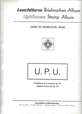 UPU 100th Anniversary Lot.  Lighthouse Album, Pages, 500+ Mint Stamps & Sheets