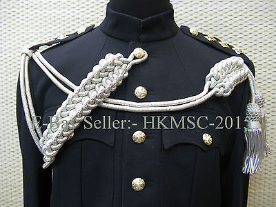 British Military / Pipe Band Silver Bullion Dress Cord to the Senior Drum Majors