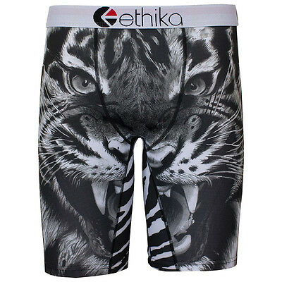 NEW Ethika MX Youth The Staple Tiger Boxers Kids Boys Long Motocross Underwear