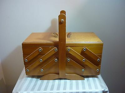 Superb  Wooden Mid Century Sewing /Storage - CARRY CABINET