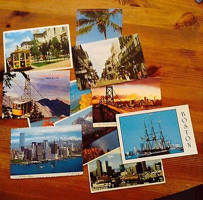 Vintage Collectible Postcards Lot Of 10