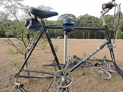 Mens Vintage Raliegh Mountain bike frame and acessories