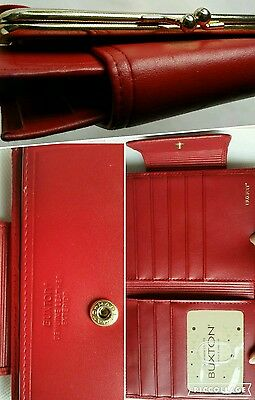 Vintage Retro  Lady Buxton leather wallet  RED