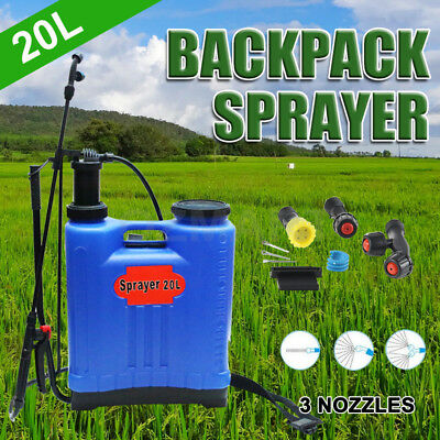 20L Pressure Backpack Farm Garden Pump Weed Killer Knapsack Chemical Sprayer