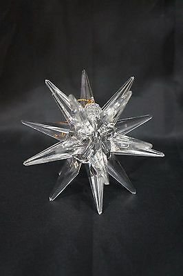 PLASTIC Faux Crystal / Glass STAR SNOWFLAKE CHRISTMAS TREE TOPPER &/or ORNAMENT