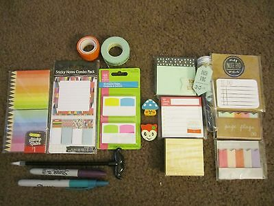 Target dollar spot stationery Planner supplies, page flags, notepads, pens washi