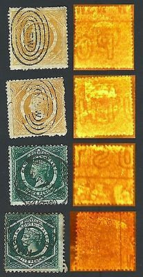 NSW 5d & 8d  Diadems with  Sheet Margin Watermarks