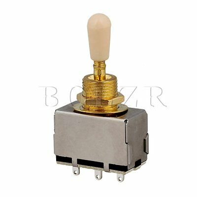 BQLZR Gold 3 Way Pickup Sealed Selector Switch & Cream Tip for Guitar Part