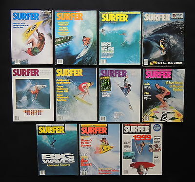 Surfer Magazine 1989 Used Lot Of 11 Issues Vol.30  Surf Surfing Hawaii
