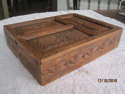 Handcrafted Wooden Carved Storage Box