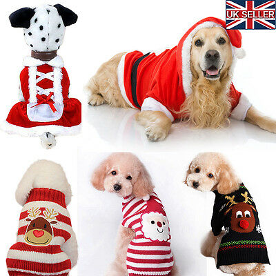 Christmas Pet Dog Warm Jumper Sweater Xmas Clothing Puppy Cat Knit Costume Coat