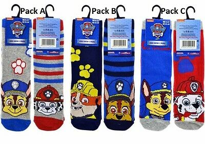 2 or 6 Pairs Official Paw Patrol Boys Kids Socks Size 3-5.5/6-8.5/9-12