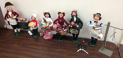 """6"" Byers' Choice Ltd The Carolers Cries Of London Gingerbread Cookies Butcher +"
