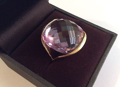 Superb 18ct gold & amethyst ring by Pascal, size O