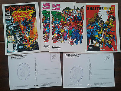Lote postales Marvel (comics,1993,postcards lot,X-Men,Ghost Rider)