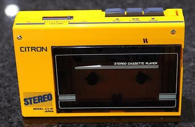 Vintage CITRON Stereo WALKMAN Portable Cassette Player CT-1P Made in Japan