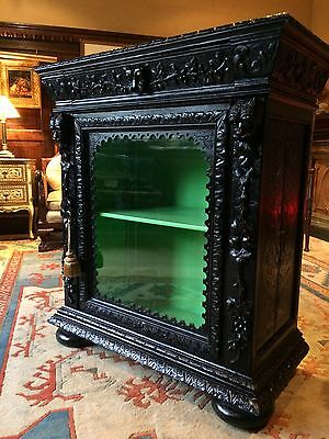 Stunning Antique Hall Bathroom Pier Cabinet 19th Century Gothic Carved Green Man • £695.00
