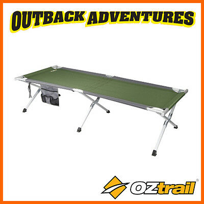 OZtrail ALUMINIUM JUMBO STRETCHR – OUTDOOR CAMPING CROSS LEG CAMP BED