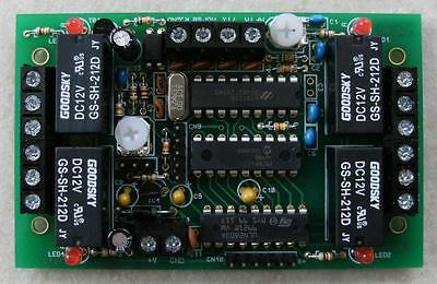 8 output DTMF decoder kit with 4 on-board relays and Morse transpond
