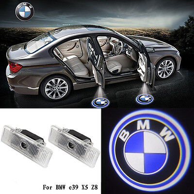 2x LED Car Door Step Welcome Projector Courtesy Shadow Lights For BMW E39 E53 X5
