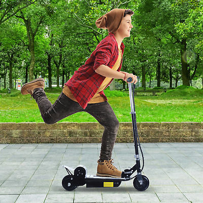 """Soozier 8 mph 37.8"""" Electric Motorized E-Scooter Battery Powered Foldable Black"""