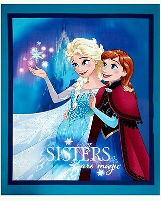 Disney Frozen Sisters Are Magic Quilt Panel * New * In Stock * Free Post *