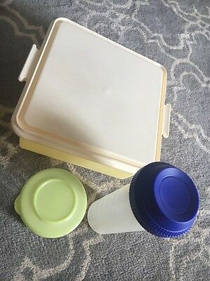 Large Square Tupperware Cake Taker, Small Beetroot And Large Shaker