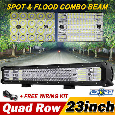 "23INCH 1296W PHILIPS Three Row LED Work Light Bar Offroad Jeep 4WD Truck 20"" 22"""