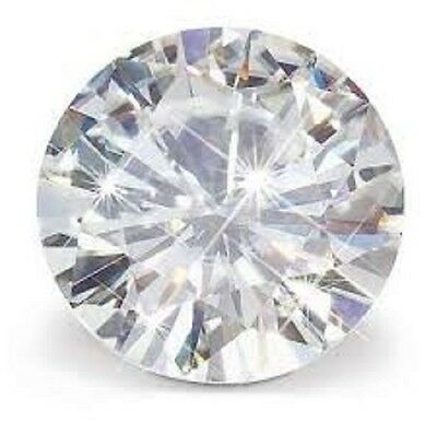MOISSANITE BLANCHE (I) 2 carats 8 mm cut brilliant facetté