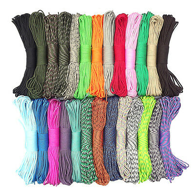 550 Paracord Parachute Cord Lanyard Mil Spec Type III 7 Strand Core