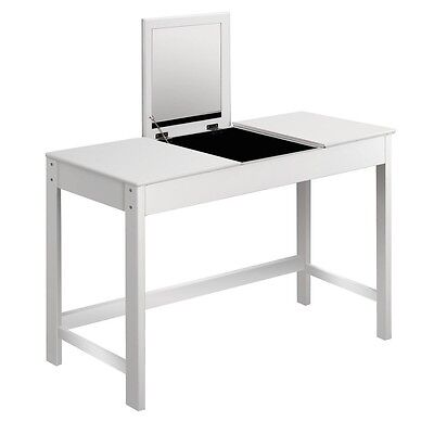 3 Drawer Dressing Table w/ Mirror White - Cabinet Stool Luxury Jewellery