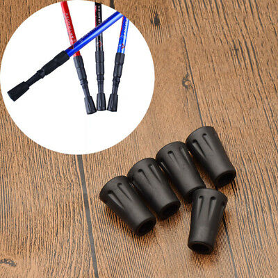 5 Pcs Replacement Rubber Tips End for Walking Trekking Poles Hiking Stick