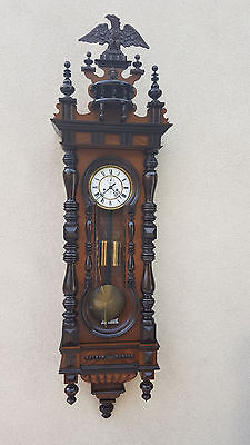 161 cm Keyhole Two  weight Gustav Becker 8 Day movement