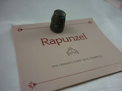 The Grimms Rapunzel Pewter Thimble ''Franklin mint'' Vintage!