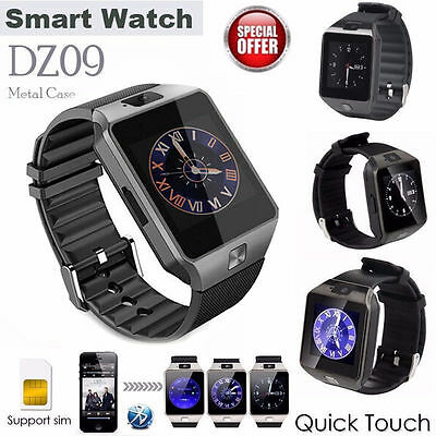 DZ09 Bluetooth Wrist Smart Watch Phone Camera SIM Card For Android IOS LOT