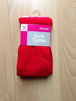 Girls Red Tights Size 5-6