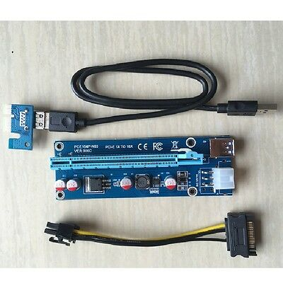 New design stable version PCI express 1x to 16x riser for ETH GPU mining
