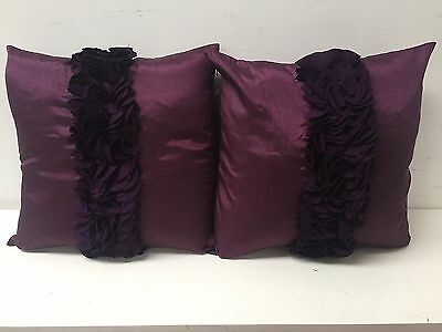 New Pair of Purple Cushion Covers 45cm x 45cm