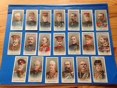 20 Cigarette Cards: Allies Army Leaders: Wills: 1917