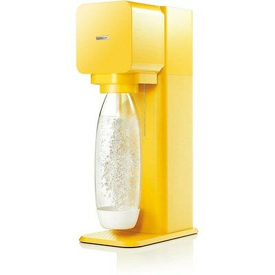 NEW SodaStream Play design Makes Drinks Fizzy Water Yellow Automatic Air Vent