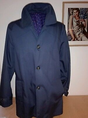 Mod mac raincoat navy large