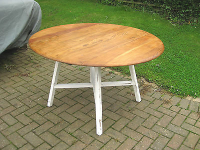 Ercol Oval Solid Elm Waxed Drop Leaf Table