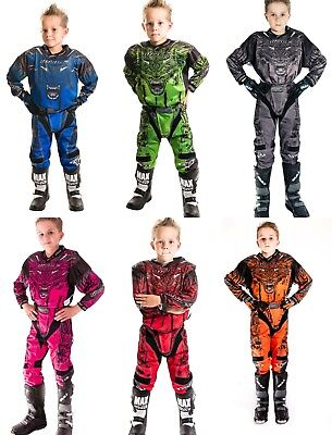 Wulfsport Attack 2017 Junior Pant Shirt Motocross Quad KIDS Race Kit