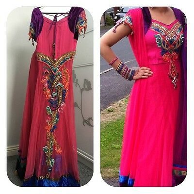 Asian Wedding Boutique Outfit Engagement Designer Embroidered Outfit Top Skirt
